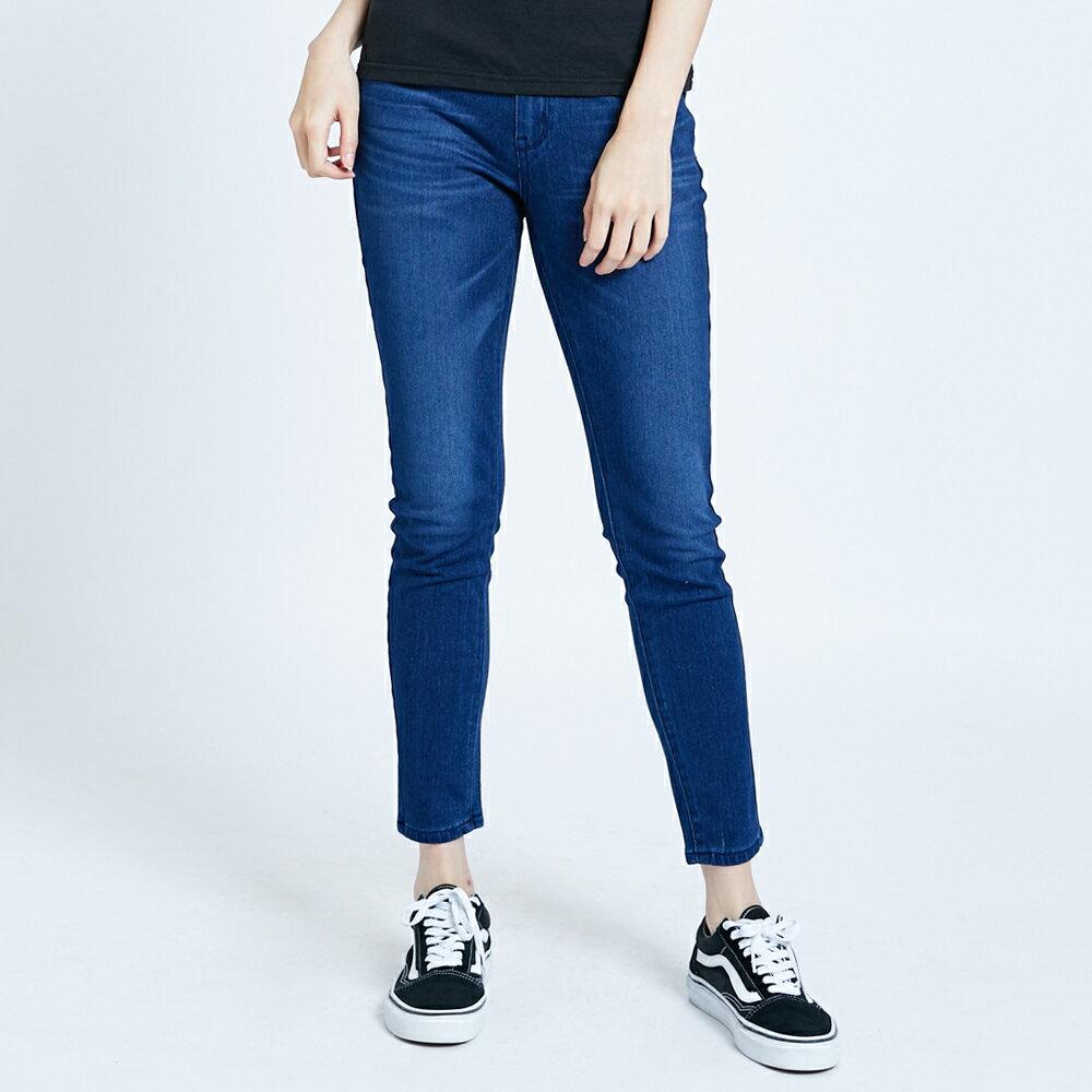 【滿額領券折$150】新品↘EDWIN JERSEYS 迦績 EJ2 棉質窄管牛仔褲-女款 拔洗藍 JOGGER