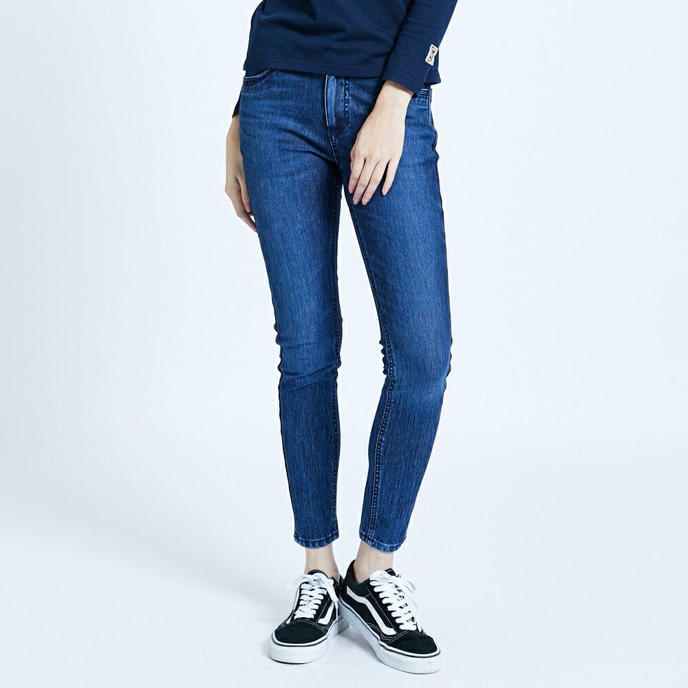【滿額領券折$150】新品↘EDWIN JERSEYS 迦績 EJ2 超彈低腰窄管牛仔褲-女款 拔洗藍 JOGGER