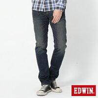 【990元優惠↘】 EDWIN 503 BLUE TRIP 不對稱口袋AB窄版褲-男款 拔淺藍