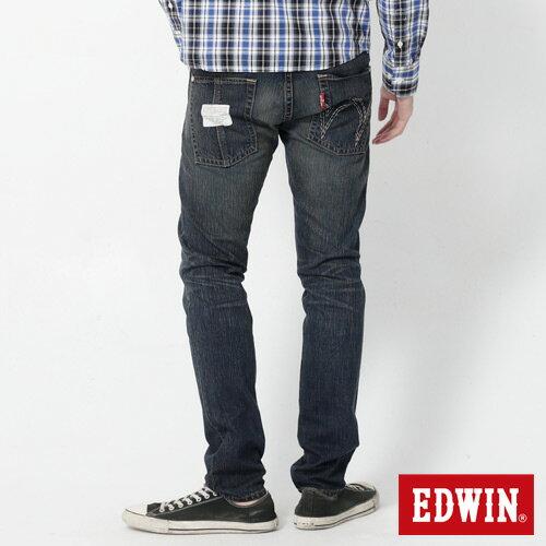【1290元優惠↘】EDWIN 503 BLUE TRIP 不對稱口袋AB窄版褲-男款 拔淺藍 1