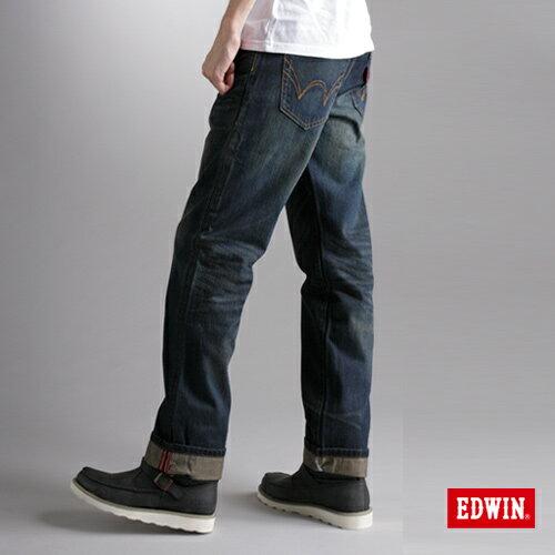 【990元優惠↘】EDWIN XV 歷史刻痕復古牛仔褲-男款 中古藍 - 限時優惠好康折扣
