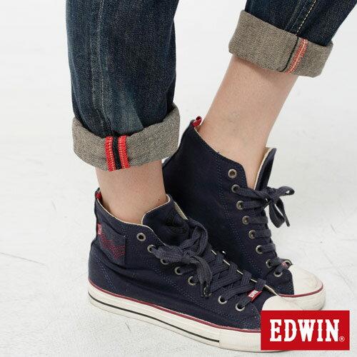 【990元優惠↘】Miss EDWIN Blue Trip 袋蓋AB褲-女款 拔洗藍 3