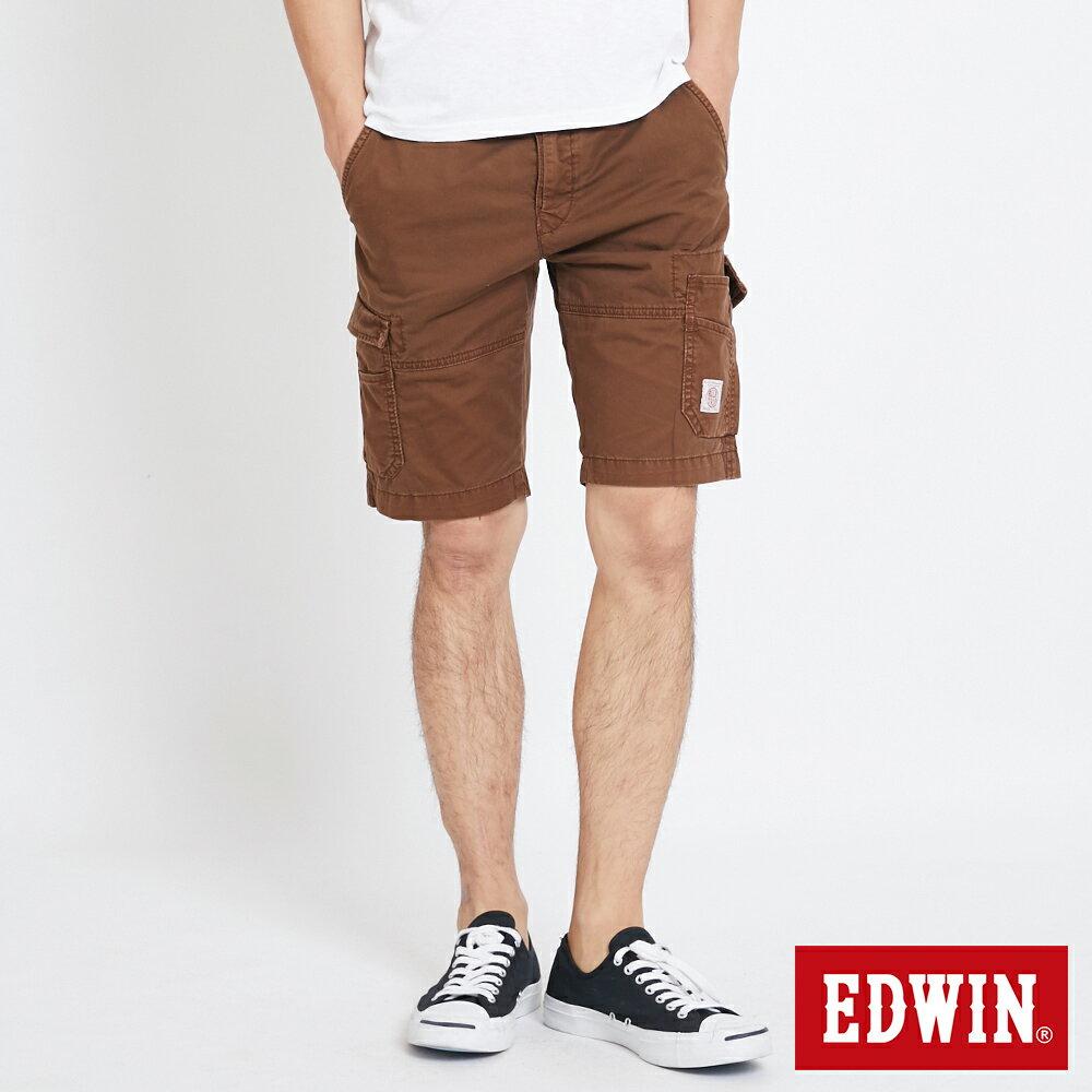 EDWIN 雙層前立 工作短褲-男款 咖啡 SHORTS 0