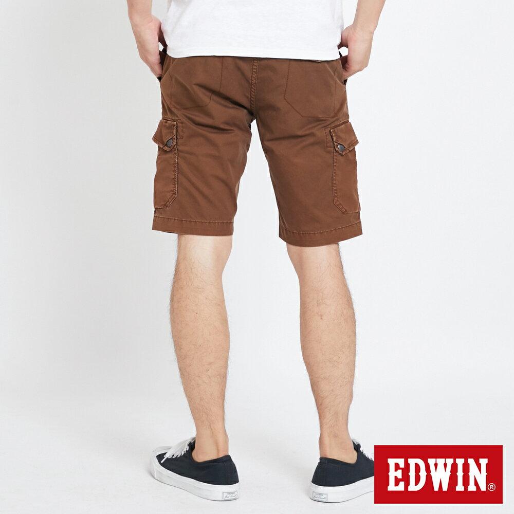 EDWIN 雙層前立 工作短褲-男款 咖啡 SHORTS 1