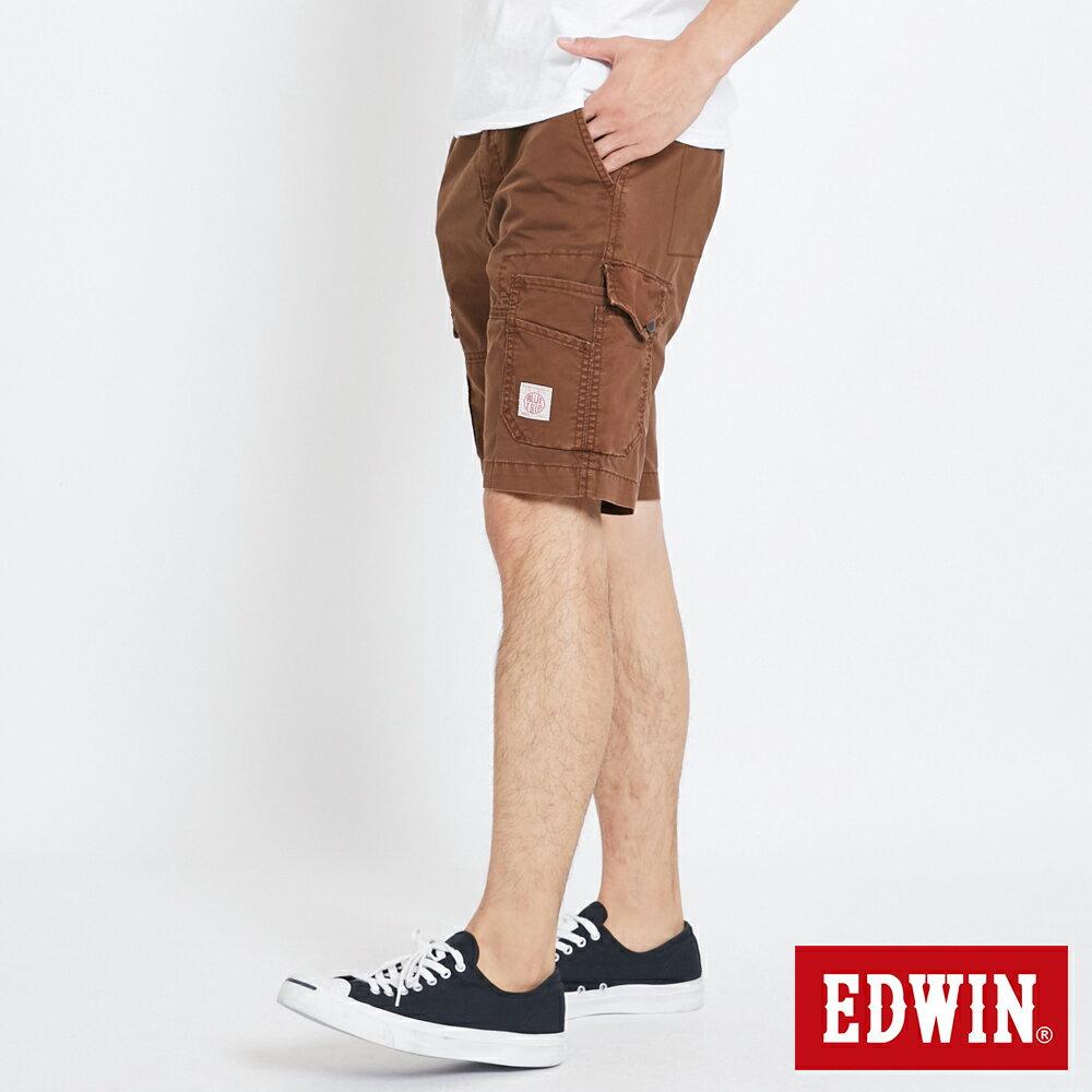 EDWIN 雙層前立 工作短褲-男款 咖啡 SHORTS 2