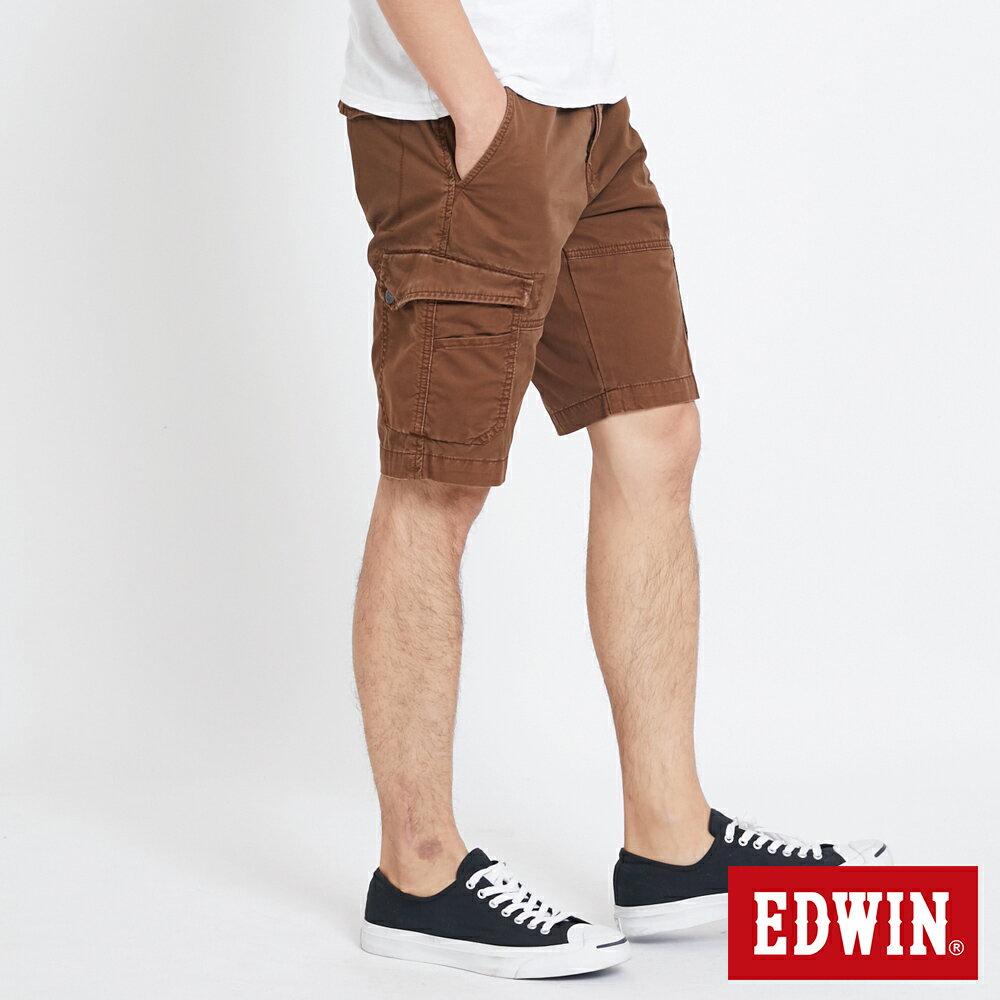 EDWIN 雙層前立 工作短褲-男款 咖啡 SHORTS 3
