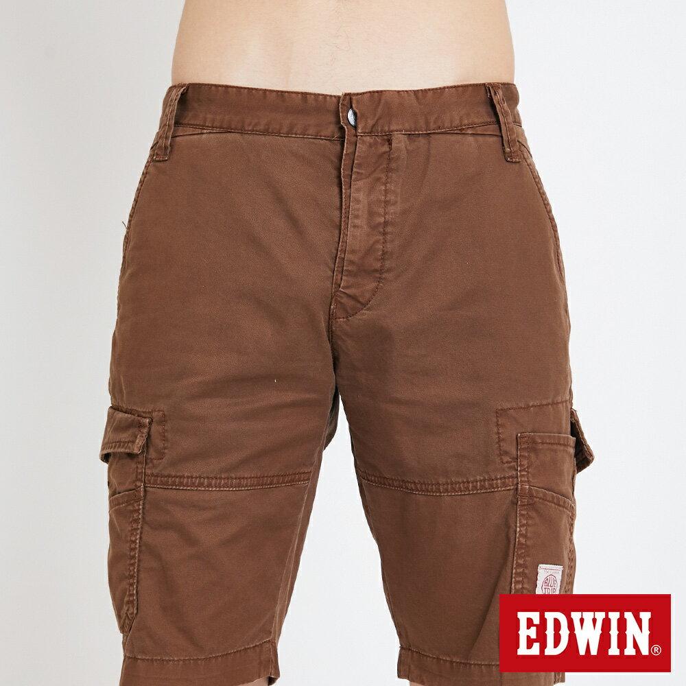 EDWIN 雙層前立 工作短褲-男款 咖啡 SHORTS 5