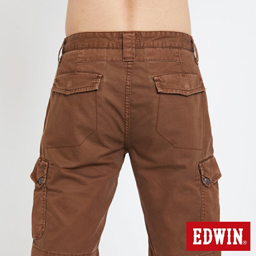 EDWIN 雙層前立 工作短褲-男款 咖啡 SHORTS 6