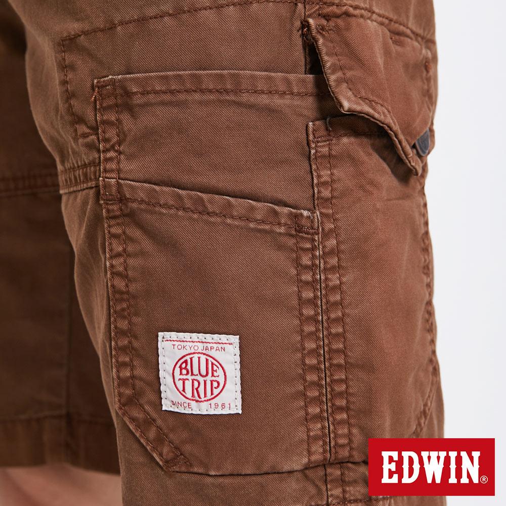 EDWIN 雙層前立 工作短褲-男款 咖啡 SHORTS 8
