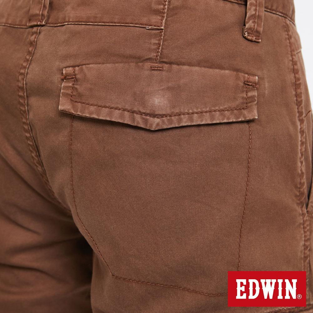 EDWIN 雙層前立 工作短褲-男款 咖啡 SHORTS 9