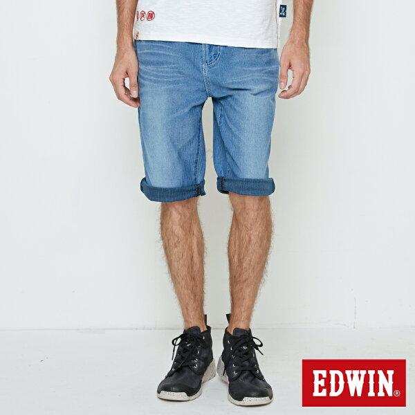 【5折優惠↘】EDWINJERSEYS迦績刷色牛仔短褲-男款石洗藍【單筆滿5030元送限量生日T】【5月會員消費滿3000元再賺15%點數】