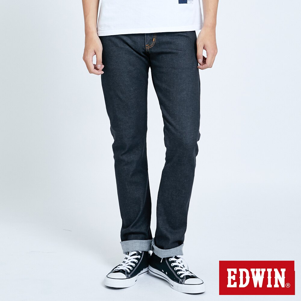 EDWIN 503 ZERO 窄直筒牛仔褲-男款 牛仔黑 SLIM 0
