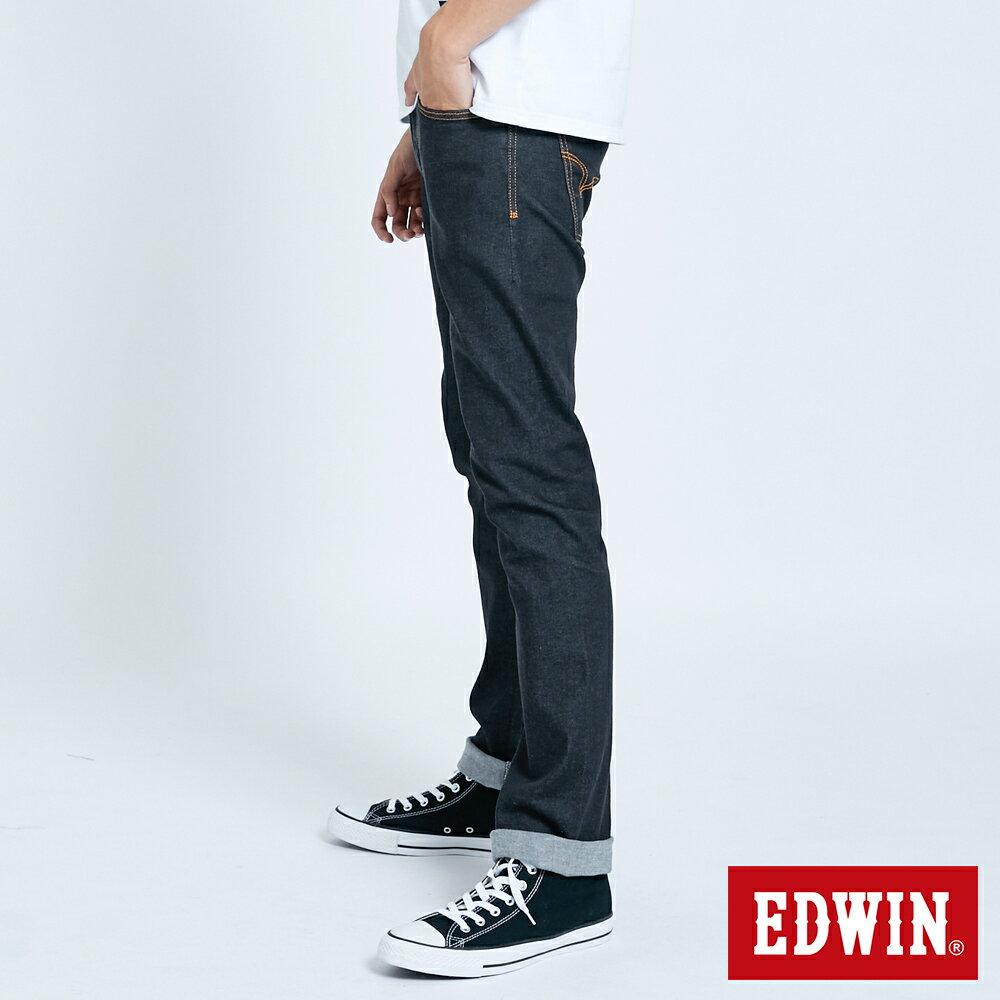EDWIN 503 ZERO 窄直筒牛仔褲-男款 牛仔黑 SLIM 4