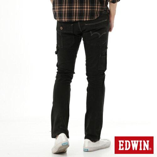 【1290元優惠↘】EDWIN ZERO 工作窄管直筒褲-男-黑灰 1