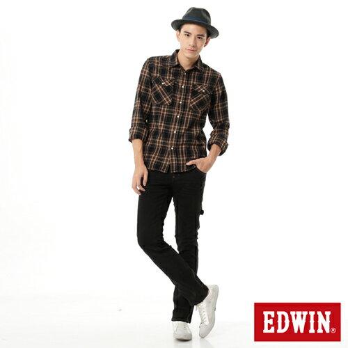 【1290元優惠↘】EDWIN ZERO 工作窄管直筒褲-男-黑灰 2
