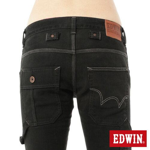【1290元優惠↘】EDWIN ZERO 工作窄管直筒褲-男-黑灰 3