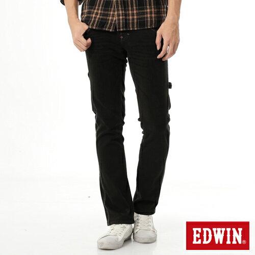 【1290元優惠↘】EDWIN ZERO 工作窄管直筒褲-男-黑灰 0