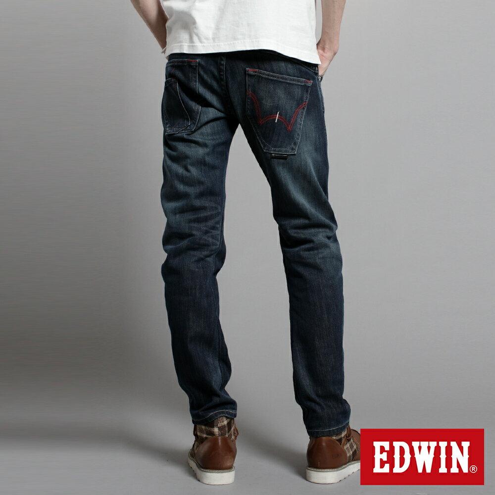 EDWIN E-F W.F迷彩內裡 保暖窄直筒牛仔褲-男款 中古藍 SLIM【任選2件1500元】 1