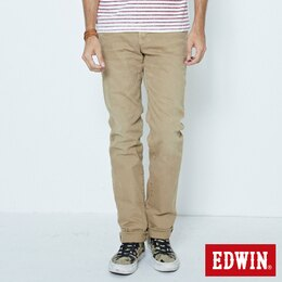 EDWIN 503 NARROW 後染中直筒牛仔褲-男款 灰卡其 STRAIGHT
