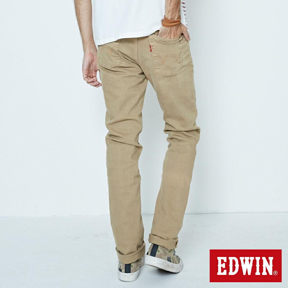 EDWIN 503 NARROW 後染中直筒牛仔褲-男款 灰卡其 STRAIGHT 1