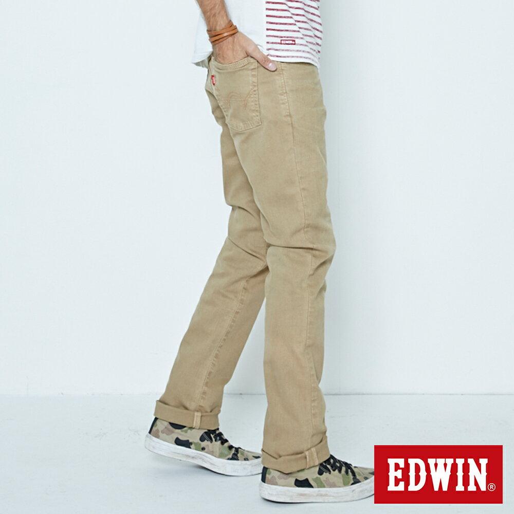 EDWIN 503 NARROW 後染中直筒牛仔褲-男款 灰卡其 STRAIGHT 2