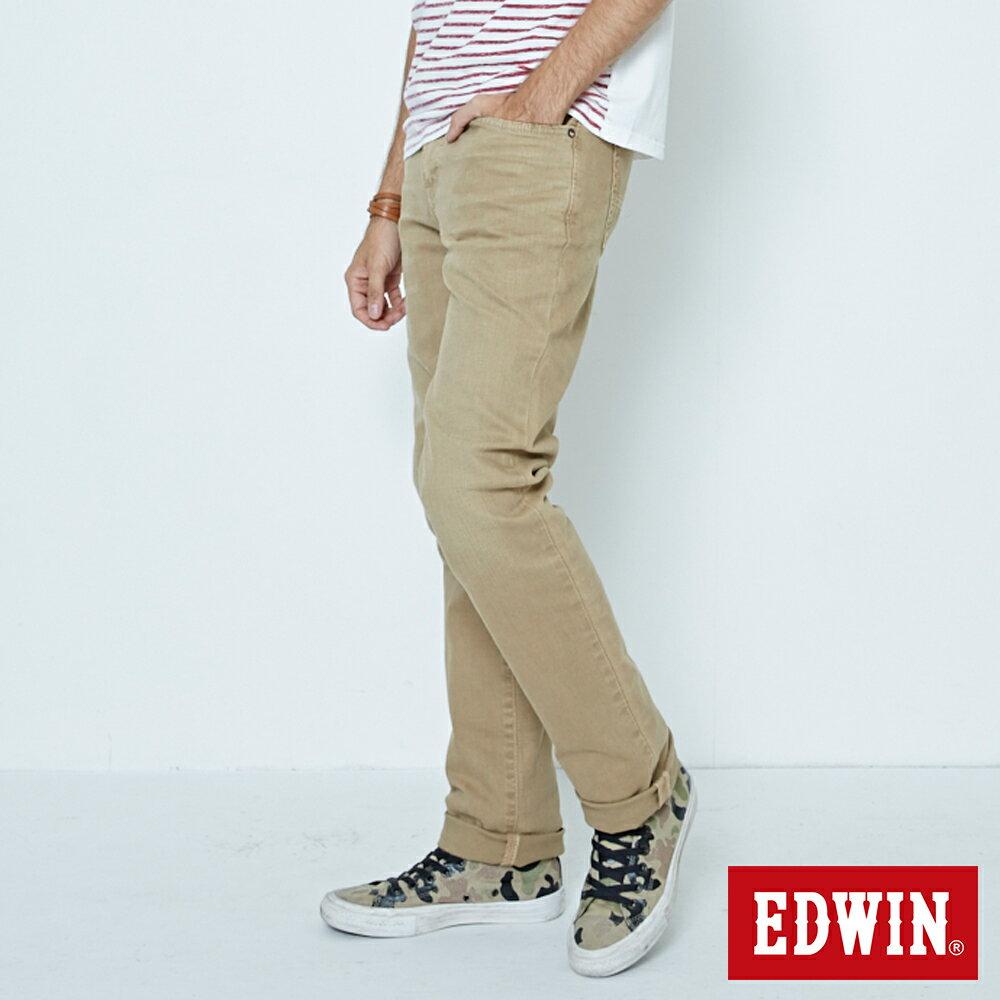 EDWIN 503 NARROW 後染中直筒牛仔褲-男款 灰卡其 STRAIGHT 3