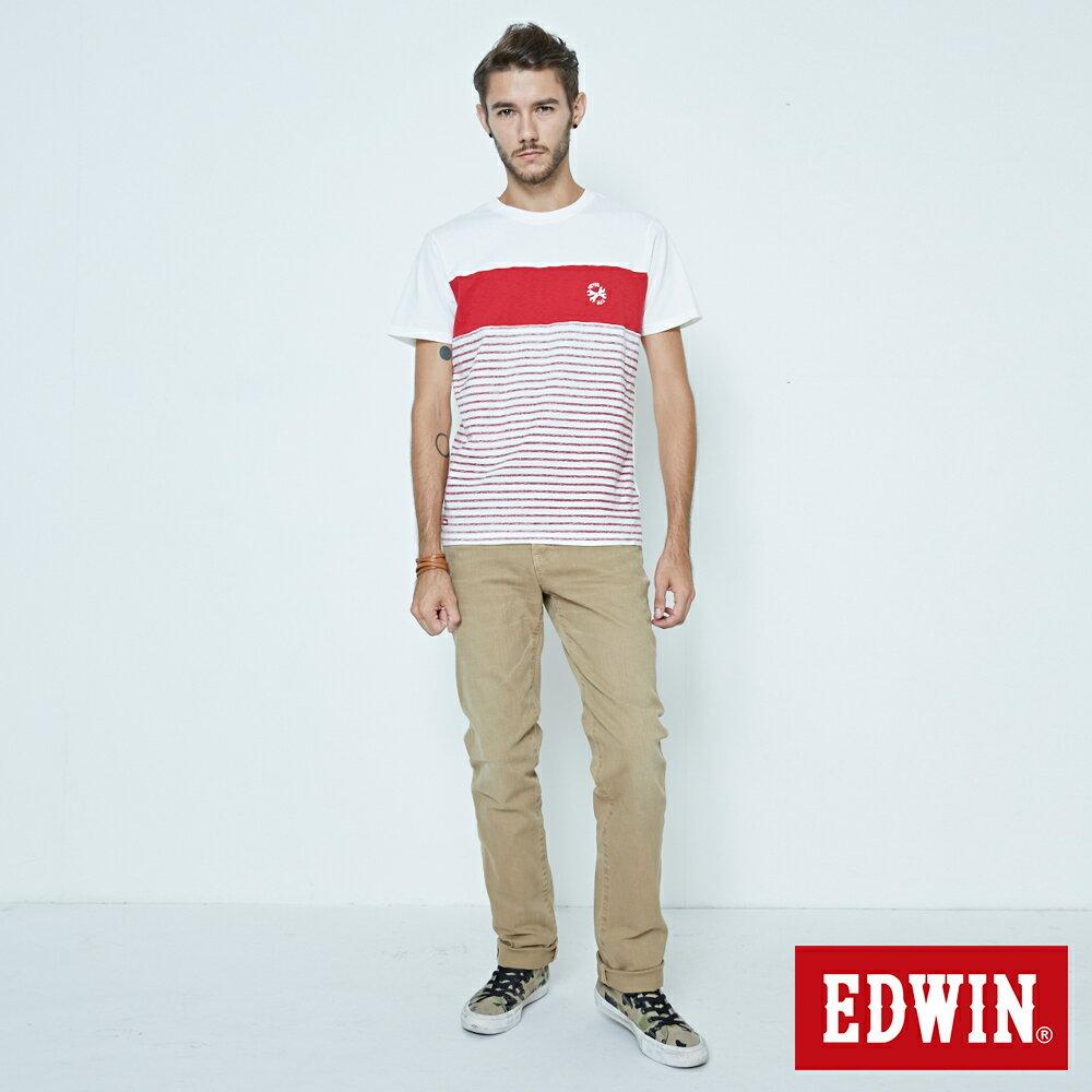 EDWIN 503 NARROW 後染中直筒牛仔褲-男款 灰卡其 STRAIGHT 4