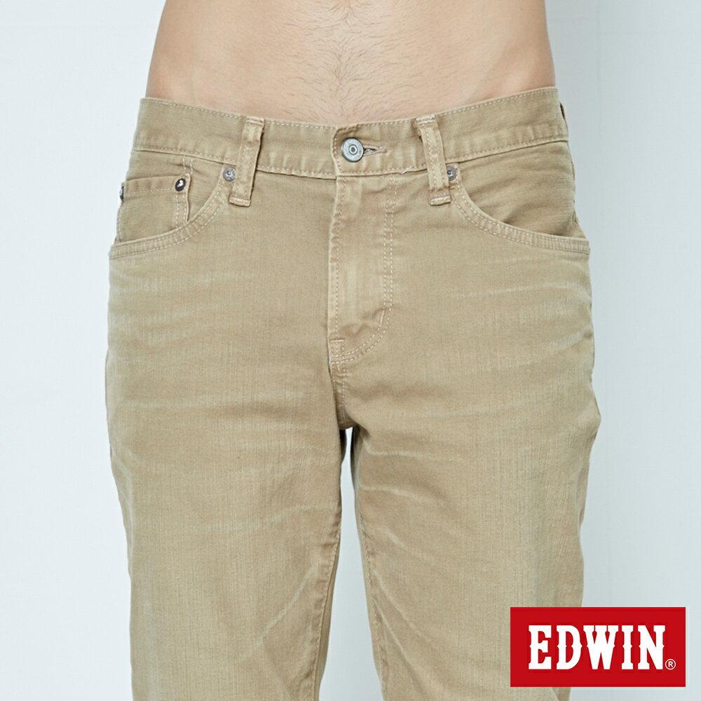 EDWIN 503 NARROW 後染中直筒牛仔褲-男款 灰卡其 STRAIGHT 5