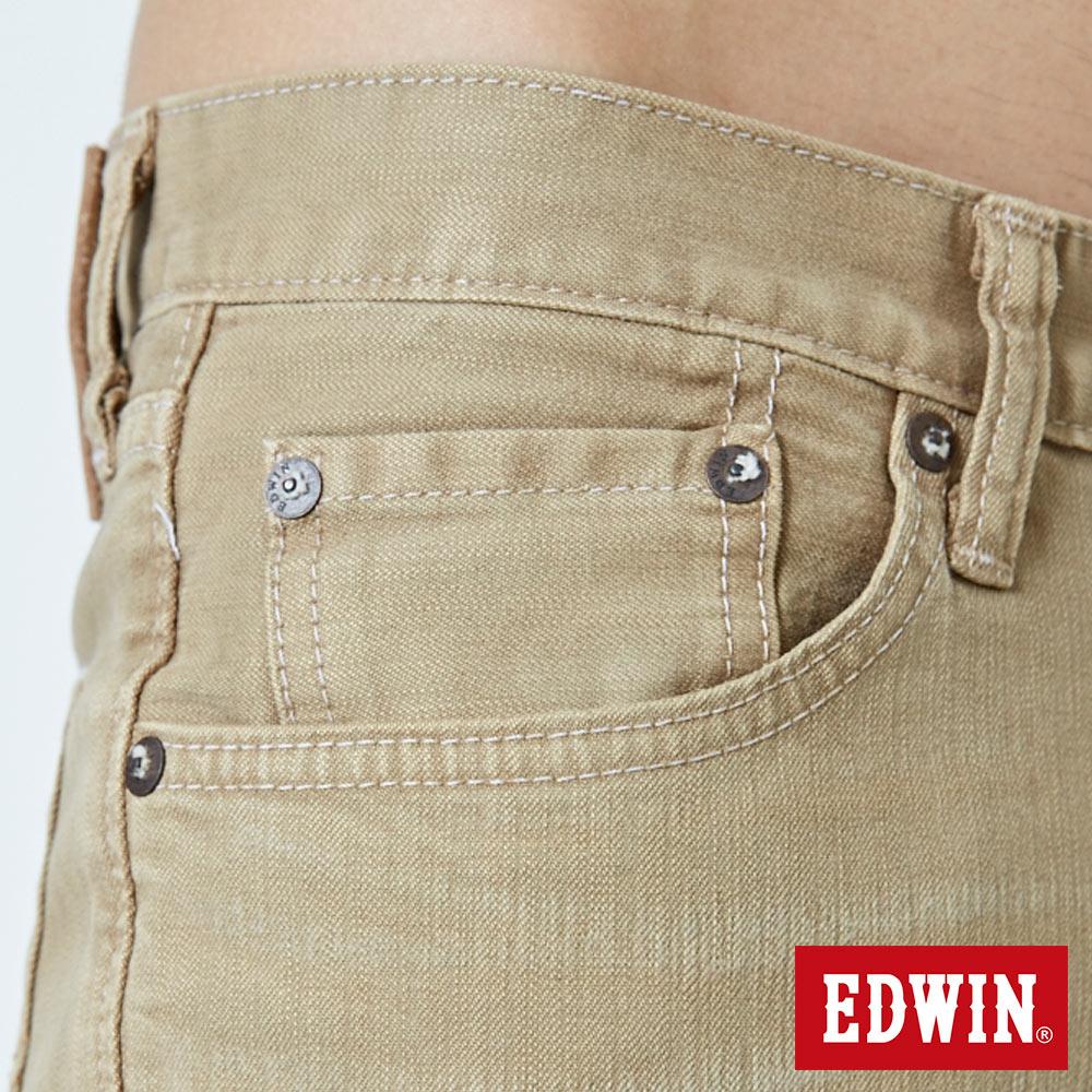 EDWIN 503 NARROW 後染中直筒牛仔褲-男款 灰卡其 STRAIGHT 8