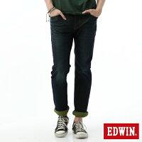 【2000元優惠↘】【零碼】EDWIN JERSEYS迦績 全黑腰頭 中直筒牛仔褲-男款 原藍磨【結帳輸入序號 Nov-edwin再折200↘數量有限↘限用一次】 0