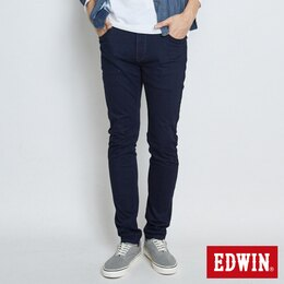 EDWIN JERSEYS 迦績 復古 直筒牛仔褲 男款 藍色 樂天獨家 零碼