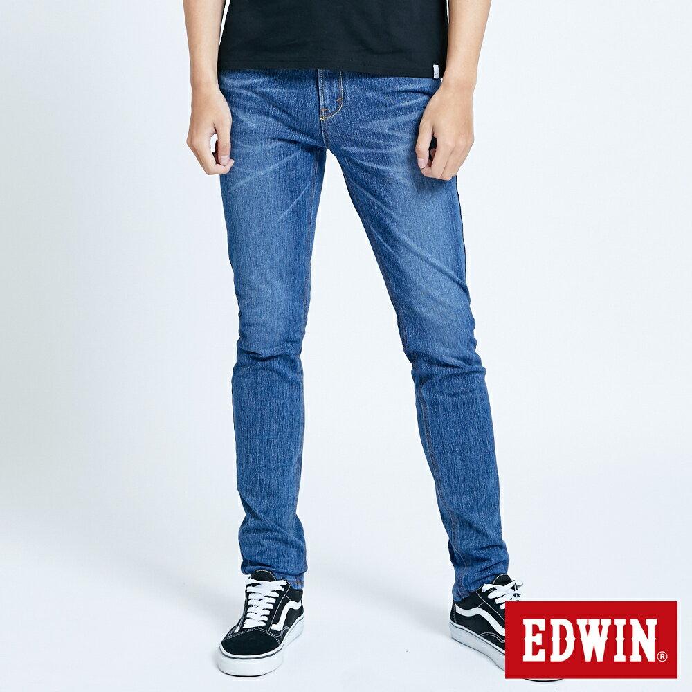 EDWIN JERSEYS 迦績 復古棉 窄直筒牛仔褲-男款 拔洗藍 樂天獨家 SLIM 0
