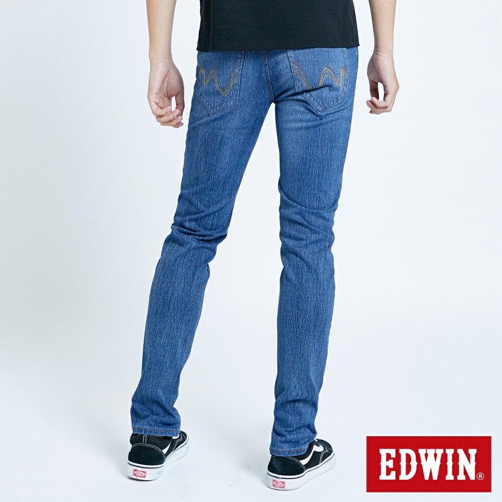 EDWIN JERSEYS 迦績 復古棉 窄直筒牛仔褲-男款 拔洗藍 樂天獨家 SLIM 1