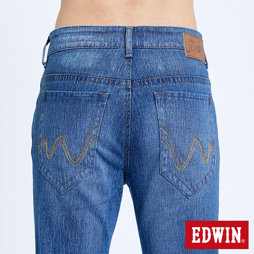 EDWIN JERSEYS 迦績 復古棉 窄直筒牛仔褲-男款 拔洗藍 樂天獨家 SLIM 6