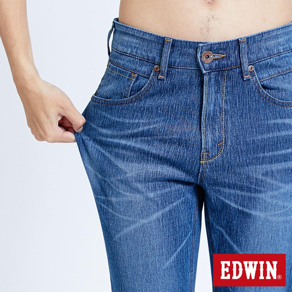 EDWIN JERSEYS 迦績 復古棉 窄直筒牛仔褲-男款 拔洗藍 樂天獨家 SLIM 7