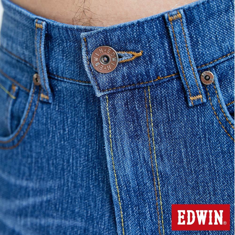 EDWIN JERSEYS 迦績 復古棉 窄直筒牛仔褲-男款 拔洗藍 樂天獨家 SLIM 8