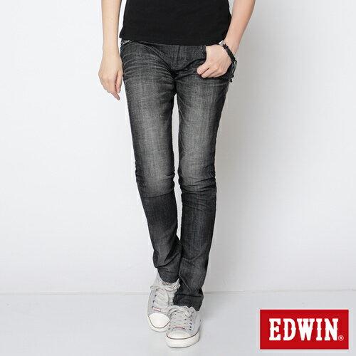 【72HR限定。790元優惠↘】EDWIN Miss 503 BLUE TRIP袋蓋直筒牛仔褲-女款 刷色灰