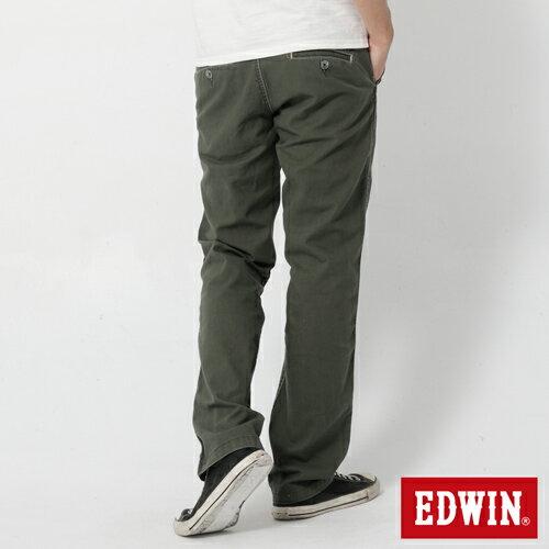 【990元優惠↘】EDWIN BLUE JEANS KHAKI 休閒色褲-男款 橄欖綠 1