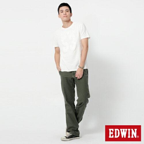 【990元優惠↘】EDWIN BLUE JEANS KHAKI 休閒色褲-男款 橄欖綠 2