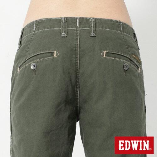 【990元優惠↘】EDWIN BLUE JEANS KHAKI 休閒色褲-男款 橄欖綠【點數加碼10+10倍↘】【下單滿799輸入限量代碼79910030-2折100元↘序號限用一次↘】 4