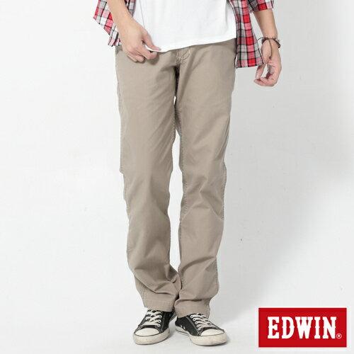 【2件組福袋。1599元↘】EDWIN BLUE JEANS KHAKI 休閒色褲-男款 灰褐色 0