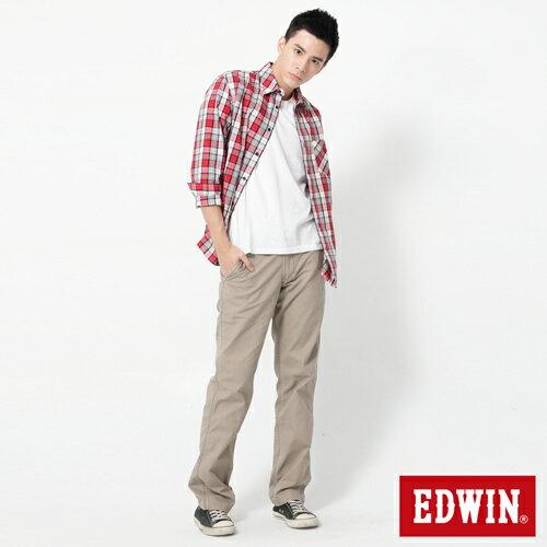 【2件組福袋。1599元↘】EDWIN BLUE JEANS KHAKI 休閒色褲-男款 灰褐色 2