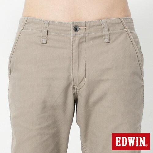 【2件組福袋。1599元↘】EDWIN BLUE JEANS KHAKI 休閒色褲-男款 灰褐色 3