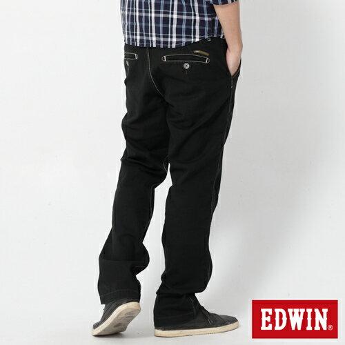 【990元優惠↘】EDWIN BLUE JEANS KHAKI 休閒色褲-男款 黑色【5/1單筆588輸入序號17marathon-8。再折88元 /單筆1800輸入序號EDWIN200-2。再折200】 1
