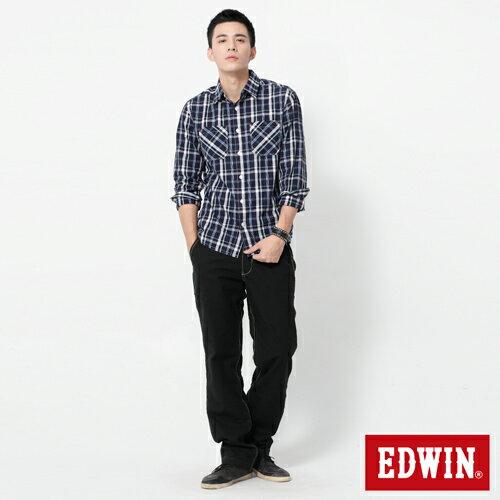 【990元優惠↘】EDWIN BLUE JEANS KHAKI 休閒色褲-男款 黑色【5/1單筆588輸入序號17marathon-8。再折88元 /單筆1800輸入序號EDWIN200-2。再折200】 2