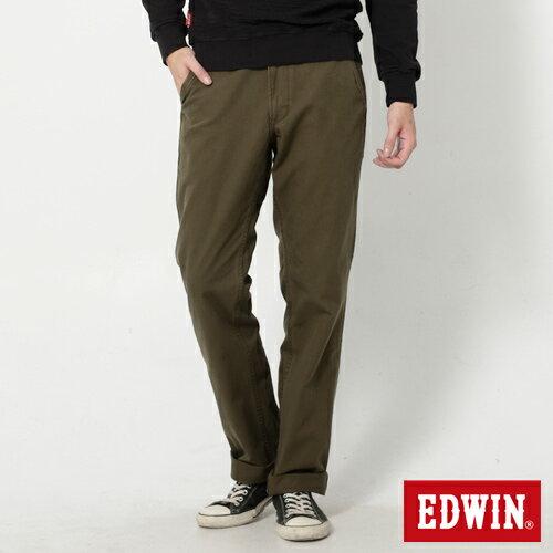 【990元優惠↘】 EDWIN 皮口袋基本款休閒長褲-男款 橄欖綠【2/17單筆消費滿799元| APP結帳輸入序號APP180217 再折100↘數量有限↘限用一次】