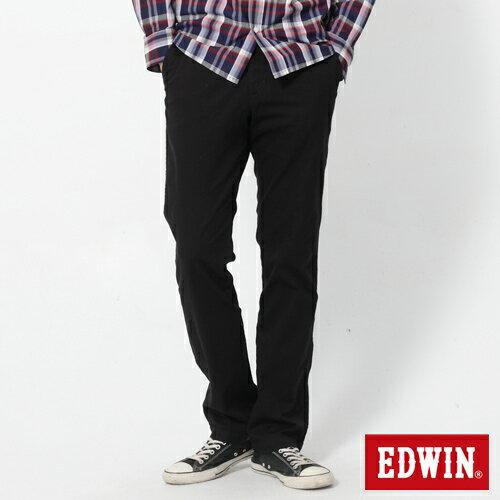 【72HR限定。790元優惠↘】EDWIN 503 KHAKI西裝式長褲-男-黑色 0