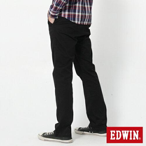 【72HR限定。790元優惠↘】EDWIN 503 KHAKI西裝式長褲-男-黑色 1