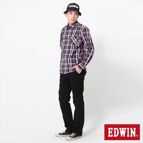 【72HR限定。790元優惠↘】EDWIN 503 KHAKI西裝式長褲-男-黑色 2