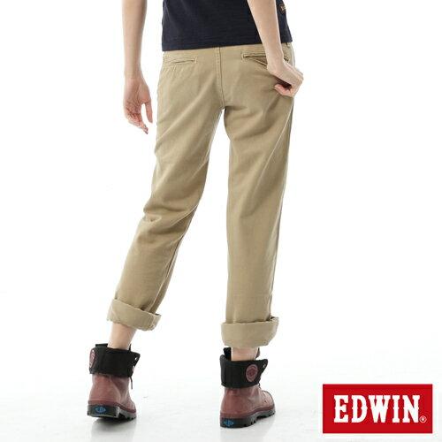 【5折優惠↘】Miss EDWIN KHAKI 休閒褲 女款 淺卡其 1